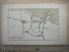 GRIMSBY DOCK HARBOUR HUMBER NEW CLEE CHICHESTER BOSHAM HUNSTON RAILWAY MAP 1928