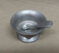 PEWTER BY PENNWOOD - SALT BOWL WITH SERVING SPOON
