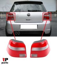 FOR VW GOLF MK4 HATCHBACK 97-06 REAR TAIL LIGHT RED WITH WHITE INDICATOR PAIR