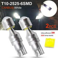 2x T10 LED 6SMD CANBUS 1200LM White 6000K W5W 194 168 Car Wedge Side Light Bulb