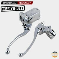 """1"""" Motorcycle Chrome Clutch & Hydraulic Brake Master Cylinder Levers for Harley"""