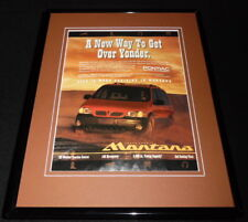 1997 Pontiac Trans Sport Montana Framed 11x14 ORIGINAL Advertisement