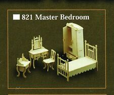 MASTER BEDROOM FURNITURE KIT IN 12th SCALE FOR DOLLS HOUSE, BRAND NEW