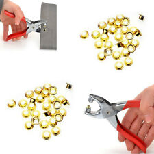 Eyelet Grommet Pliers Hole Punch Steel Fabric Paper Canvas Setter Repairing Kit