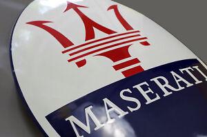 Enamel plaque MASERATI 32,5x50 cm WARRANTY-10 ys collectable sign logo emblem