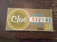 1963 Clue Detective Parker Brothers Board Game