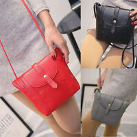 Fashion Women Messenger Bag PU Leather Crossbody Satchel Purse Shoulder Handbag