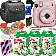 Fujifilm Instax Mini 11 Instant Camera (Blush Pink) + Fuji Film 60pck, Case, Kit