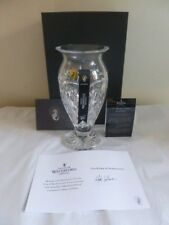 """WATERFORD CRYSTAL """"TOM BRENNAN"""" 10"""" VASE MADE IN IRELAND  NEW BOXED MINT"""