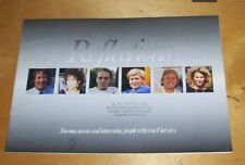 RELECTIONS FAMOUS NAMES REFLECT ON FIAT CARS SALES BROCHURE PAUL NICHOLAS CROMA