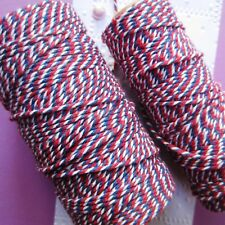 MAYA ROAD ∽ BAKERS TWiNE ∽ 5 METRES ∽ RED / BLUE / WHiTE ∽ DOUBLE BERRY ~