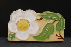 CALCO Vintage Contoured Flower Tile/Yellow
