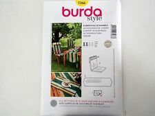 BURDA SEWING PATTERN # 7266 PATIO CHAIR BACK, CUSHION, TABLE RUNNER, PLACEMAT