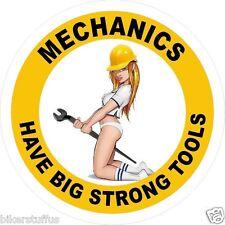 MECHANICS HAVE BIG STRONG TOOLS (LOT OF 3) STICKER HARD HAT STICKER HELMET
