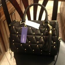 Rebecca Minkoff Flame Quilted Black  Hand Bag Purse Satchel Studded $525 Purse