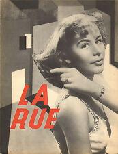 """SYNOPSIS DU FILM """"LA RUE"""" de G. WERNER 1949"""