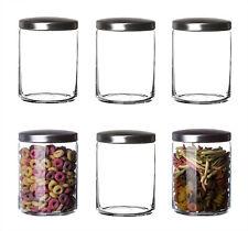 6er Set Vorratsgläser mit Metalldeckel 1L Aufbewahrungsgläser Glas Vorratsdosen