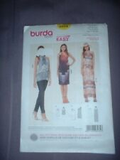 BURDA PATTERN 6934 ~  LADIES SUMMER DRESS & TOP ~ SZ  6-20 ~ NEW
