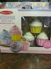 Melissa Doug Decoupage Craft Set - Cupcakes