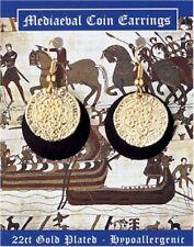 Une paire de médiévale Plaqué Or Pièce Boucles D'oreilles