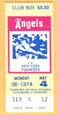 5/4/81-YANKEES/ANGELS TICKET STUB-MLB RECORD-RELIEF PITCHER-RON DAVIS-8 CONS.K'S