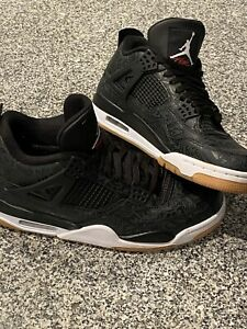 Jordan 4 Retro: laser black gum Men's Size 9.5