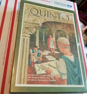 NEW! FACTORY SEALED VINTAGE 1968 3M GAME QUINTO BOOKSHELF BOARD GAME