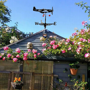 Weather Vane Wind Direction Indicators Home Roof Garden Farm Battleship