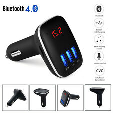 Bluetooth 4.0 Fm Transmitter Wireless Mp3 Tf Radio Adapter Usb Charger Car Kit