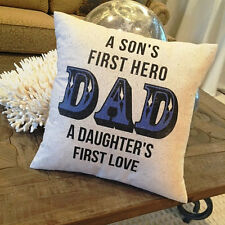 Fathers Day Gift Father Daughter Love Pillow Man Cave Birthday