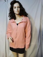 Draper Damon's Pink Embroidered Jacket Coat Size L