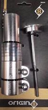 """Origin8 X-Lift Stem Riser Bike Gooseneck Stem Riser Silver 4"""" x  22.2 Alloy"""
