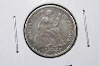 1873 w/Arrows Liberty Seated Dime,  Choice Very Fine