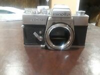 Minolta SRT 202 V2 SLR Film Camera Body Chrome #156