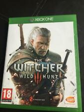 EXCELLENT   CONDITION ( THE WITCHER WILD HUNT 3 ) + CD + SLEEVE   XBOX ONE  GAME