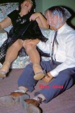 #AP n Amateur 35mm Slide-Photo- Adult Party I Guess- Weird -Red Kodachrome 1950s