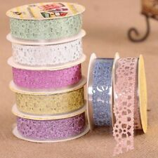 5x Bling Lace Self-Adhesive Washi Tape Roll Sticky Paper Stickers DIY Decor New