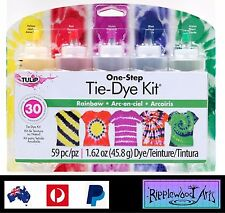 Tulip One Step - 5 Color Tie Dye Kit - RAINBOW - Dyes up to 30 items