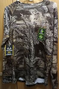Men's Realtree Max-1 XT L/S Insect Repellent Tee Shirt Sizes Medium or Large NEW