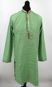Men's Sherwani Kurta Art Silk Man's Indian Traditional Wear - Size -38