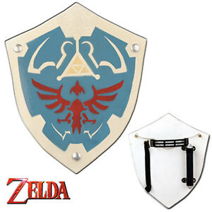 Zelda Hylian Shield Replica WOODEN Triforce Eagle - Deluxe Edition RARE Link