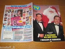 TV SORRISI E CANZONI=1986/52=POZZETTO=VERDONE=GAETANO SCIREA=CALENDARIO 1987