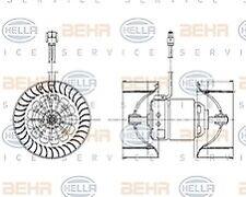 BMW E46 Heater blower - Hella 8EW009159-201