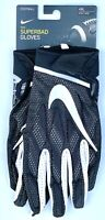 NEW Nike All Purpose Superbad Football Gloves 4XL Black and White sticky grip