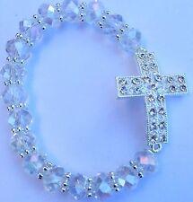 12 Rhinestone big cross bracelet baptism first communion quinceanera  favors