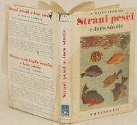 HYATT VERRILL STRANI PESCI E LORO STORIE FISH FISHES MARE SEA LIFE 1949