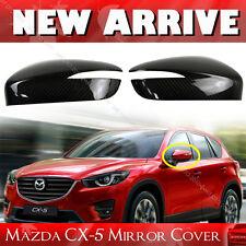 Carbon Fiber Fit For Mazda CX-5 Hatchback Side Mirror Cover Cap 15 16 SUV
