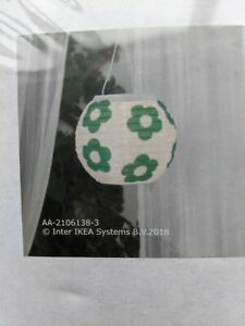 LED solar-powered pendant lamp, outdoor globe. Green Flowers