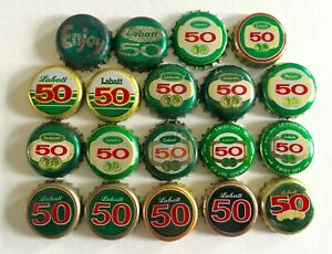 19 Diff Labatts Brewery Beer Bottle caps ~ Labatts 50 Crowns ~ 1970's Beer caps