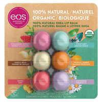 EOS 100% Natural USDA Certified Organic Shea Butter Lip Balm, 6-pack
